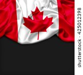 Canada Abstract Flag And Black...