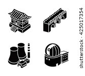 buildings vector icons | Shutterstock .eps vector #425017354