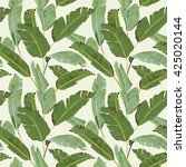 seamless pattern. tropical palm ... | Shutterstock .eps vector #425020144