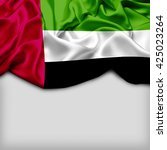 uae abstract flag and plain... | Shutterstock . vector #425023264