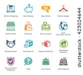 e commerce icons set 5  ... | Shutterstock .eps vector #425024644