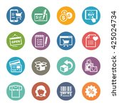 e commerce icons set 3   dot... | Shutterstock .eps vector #425024734