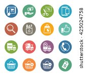 e commerce icons set 4   dot... | Shutterstock .eps vector #425024758