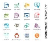 e commerce icons set 3  ... | Shutterstock .eps vector #425024779