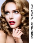 glamour portrait of beautiful... | Shutterstock . vector #425025460