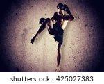 kickboxing. | Shutterstock . vector #425027383