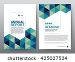 layout template for brochure... | Shutterstock .eps vector #425027524