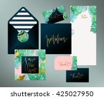 trendy tropical  jungle style... | Shutterstock .eps vector #425027950