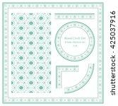 vintage frame pattern set 319... | Shutterstock .eps vector #425037916