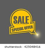 sale banner design.vector... | Shutterstock .eps vector #425048416
