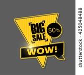 big sale banner design.vector... | Shutterstock .eps vector #425048488