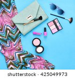 fashion stylish clothes ... | Shutterstock . vector #425049973