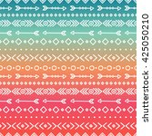 hand drawn geometric ethnic... | Shutterstock .eps vector #425050210