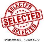 selected. stamp | Shutterstock .eps vector #425055670