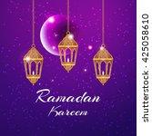 ramadan kareem greeting card  ... | Shutterstock .eps vector #425058610