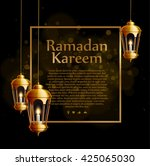 ramadan kareem background ... | Shutterstock .eps vector #425065030