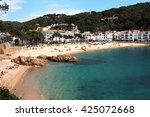 main view of tamariu beach and... | Shutterstock . vector #425072668