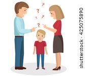 parents scream and scold the... | Shutterstock .eps vector #425075890