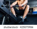 cropped image of a fitness man... | Shutterstock . vector #425075986