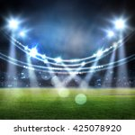 stadium. digital effect   | Shutterstock . vector #425078920