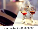 many glasses of different wine...   Shutterstock . vector #425080033