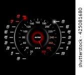 modern car speedometer and rpm... | Shutterstock .eps vector #425081680