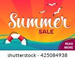 vector summer sale banner   Shutterstock .eps vector #425084938