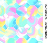 seamless holographic pattern.... | Shutterstock .eps vector #425086090