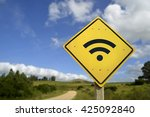 internet access in remote zone  ... | Shutterstock . vector #425092840