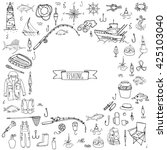 Hand Drawn Doodle Fishing Icons ...