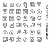 seo icons set  web development... | Shutterstock .eps vector #425103148