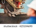 coal mining in an open pit  ... | Shutterstock . vector #425104690