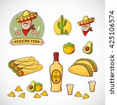 mexican food vector... | Shutterstock .eps vector #425106574