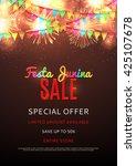 festa junina sale poster.... | Shutterstock .eps vector #425107678