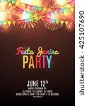 festa junina party flyer.... | Shutterstock .eps vector #425107690