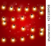 christmas lights   festive... | Shutterstock .eps vector #425108908
