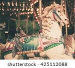 vintage carousel horse | Shutterstock . vector #425112088