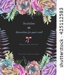 background  template postcard... | Shutterstock . vector #425112583