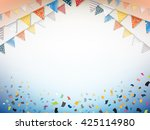 celebration bunting. party...   Shutterstock .eps vector #425114980