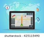 geolocation mobile gps... | Shutterstock .eps vector #425115490