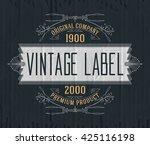 vintage typographic label... | Shutterstock .eps vector #425116198
