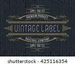 vintage typographic label... | Shutterstock .eps vector #425116354