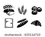 bread icon set vector    Shutterstock .eps vector #425116723