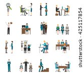 recruitment hr people... | Shutterstock .eps vector #425117854