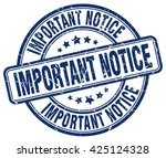 important notice. stamp | Shutterstock .eps vector #425124328