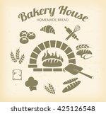 bakery icon set vector  | Shutterstock .eps vector #425126548