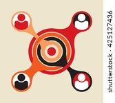 basic social group formed... | Shutterstock .eps vector #425127436