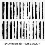 grunge brush strokes set.grunge ... | Shutterstock .eps vector #425130274