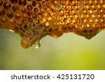 fresh honey in comb | Shutterstock . vector #425131720