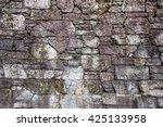 Stone Wall Pattern And Closeup...